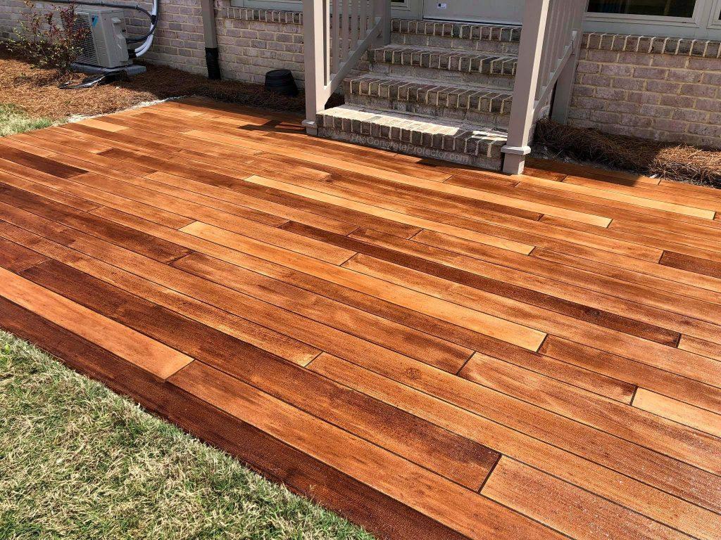 Concrete Wood Overlay | Lima Ohio | United Concrete Doctor