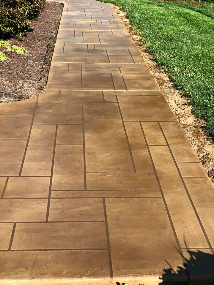 Stained Textured Concrete Overlay   Lima Ohio   United Concrete Doctor