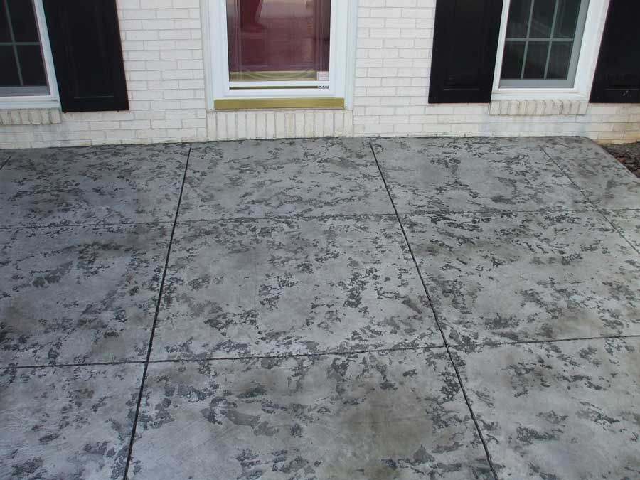 Stained Textured Concrete Overlay | Van Wert Ohio | United Concrete Doctor