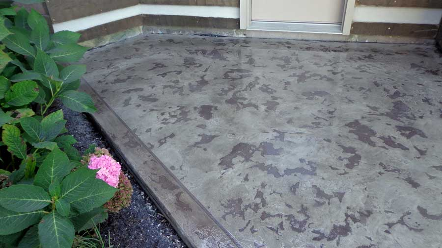 Stained Textured Concrete Overlay | Lima Ohio | United Concrete Doctor