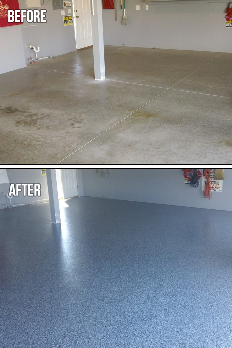 Epoxy Chip Flooring Corner